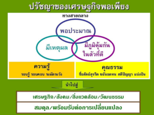 Sufficiency Economy Philosophy in Siam University Graph Th